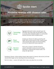 Maximize revenue with closeout sales