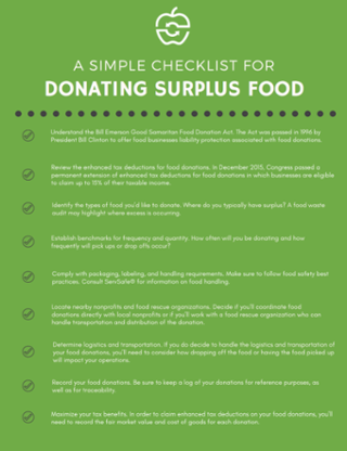 Donating Surplus Food - A Simple Checklist